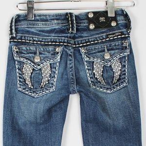 Miss Me GIRLS Flap Pocket Rhinestone Boot Jeans